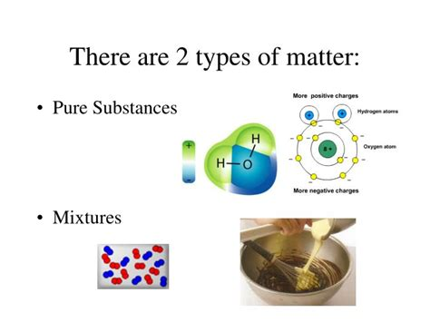 what are the kinds of matter ppt substances vs mixtures physical and chemical