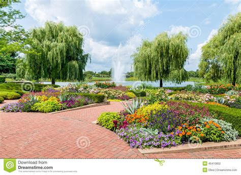 chicago botanical gardens chicago botanic garden usa stock photo image 45410852