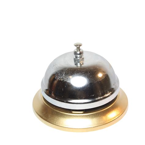 silver table l base gold coloured base silver table bell boy service bell