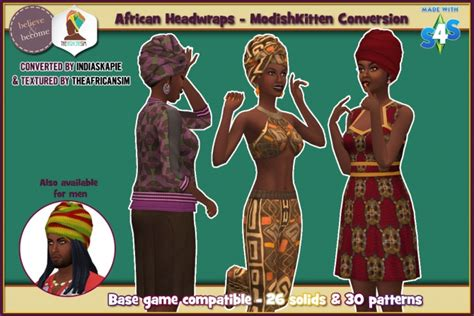 african american sims 4 conversion of modishkitten s african headwrap at the