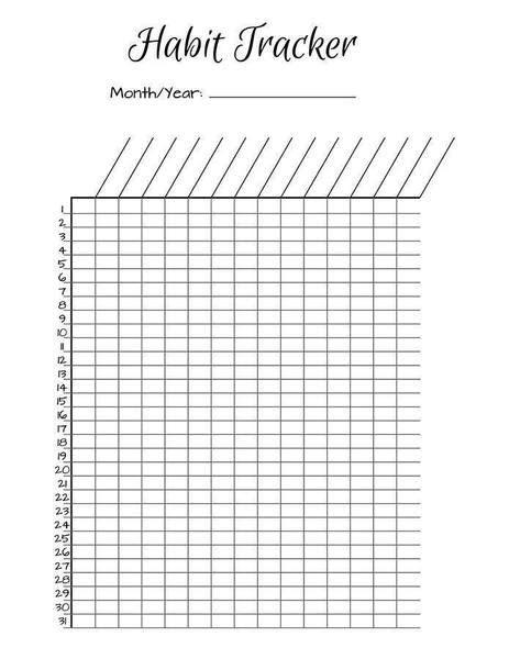 printable habit tracker bullet journal bullet journal habit trackers printable the digital