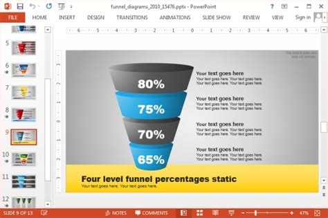 Animated Funnel Diagrams Powerpoint Template Free Powerpoint Funnel Template