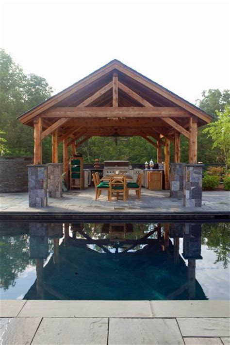 Cabana Pool House A Post And Beam Pavilion With Outdoor Kitchen