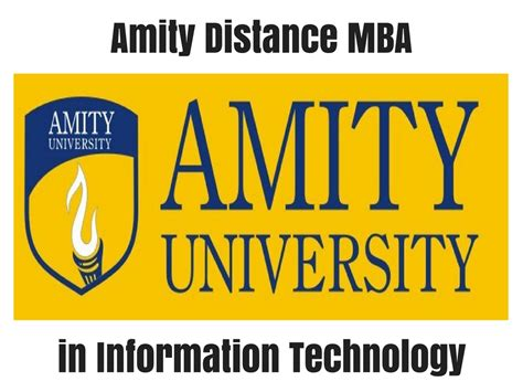 Amity Distance Learning Mba Syllabus by Amity Distance Mba In Information Technology Distance