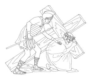 coloring pages of jesus carrying the cross bible quilt free coloring pages biblequilts com