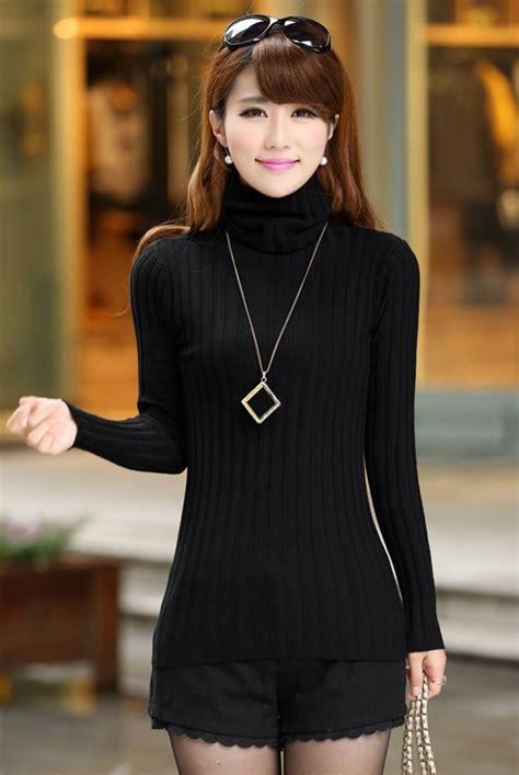 3lj226 Fashions Korea Dress Import Black Dress sweater korean sweater tunic