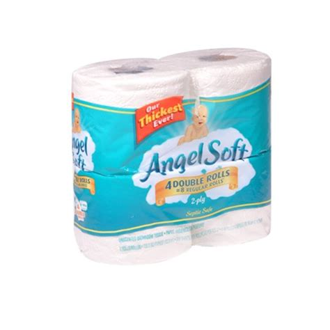 softest bathroom tissue angel soft bathroom tissue 4 double rolls union