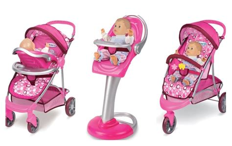 Graco Doll High Chair Set by Tollytots Graco Stroller And High Chair