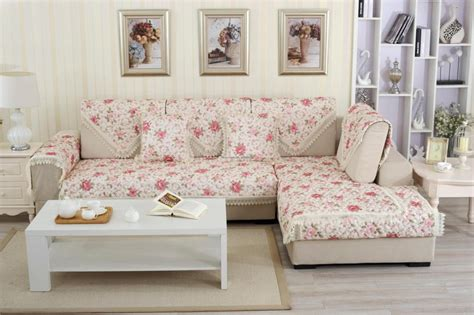 european style floral print sofa cover 100 cotton lace