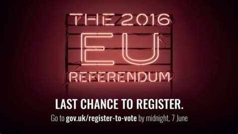 Last Chance To Vote by Eu Referendum Last Chance To Register To Vote