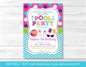 Pool Invitations Free Templates by Free Printable Pool Invitations Gangcraft Net