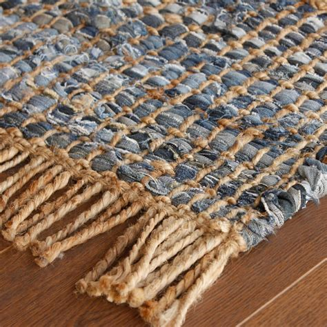 Jute Kitchen Rug Rugs Leather Rugs Blue Denim Jute Rug