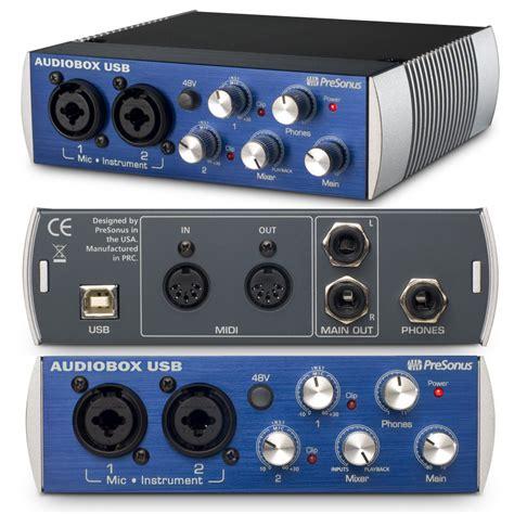 Audio Box Usb strat29 s review presonus audiobox usb audiofanzine