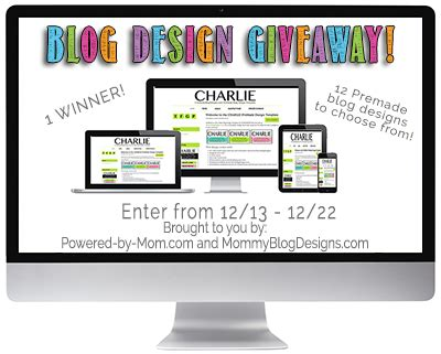 Mom Blog Giveaways - mommy blog designs giveaway ends 12 22 powered by mom