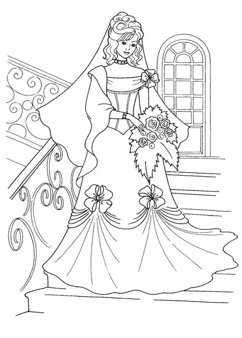 printable wedding coloring book pages wedding dress coloring pages coloring home