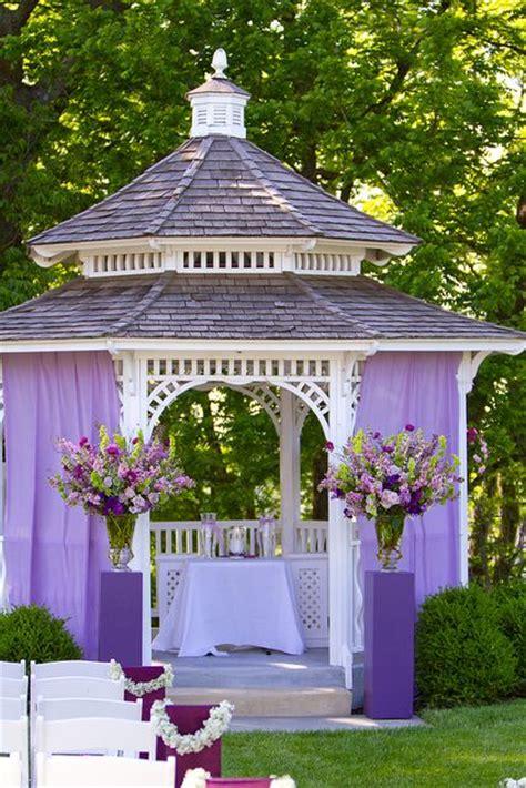 Wedding Gazebo Decor by Gazebo Alter For A Purple Theme Wedding Ceremony