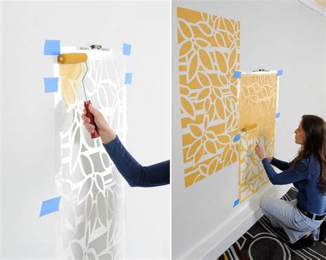 painting a wall make a statement with stenciled walls