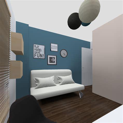 Chambre Bleue Et Beige r 233 alisation jaune soleil et bleu lagon un appartement