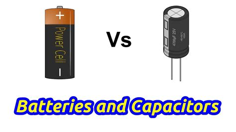 what is the difference between capacitor and battery capacitors vs batteries