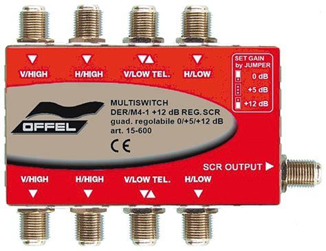 illuminatore scr 4 uscite sistemi integrati multiswitch scr guadagno regolabile 4