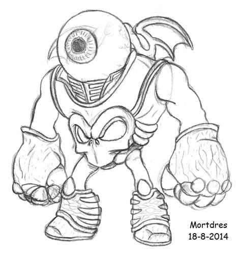 eye brawl skylander coloring page eye brawl pre by mortdres on deviantart