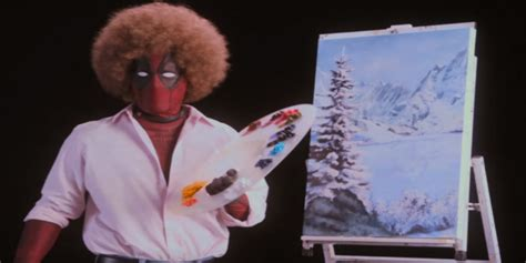 deadpool 2 trailer bob ross channels bob ross in deadpool 2 teaser