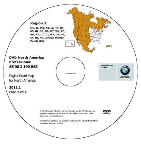 The Greatest American Dvd Region 2 2011 Bmw American Map Dvd Professional Region 2 West Dvd Car Navigation Car Navigation