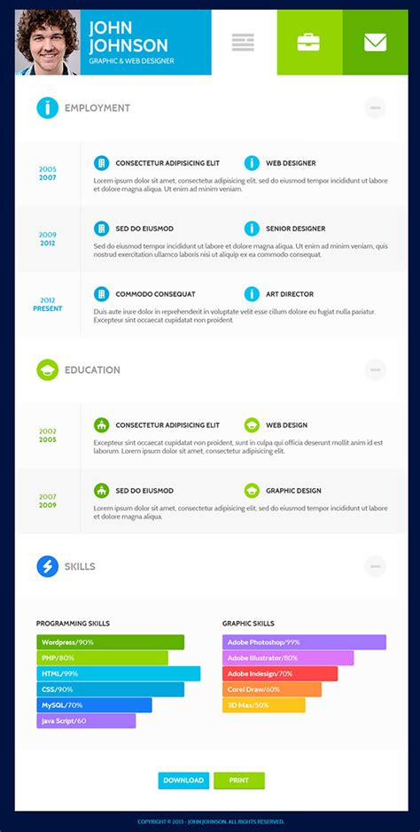 Resume Templates Flat Design The Resume Template That Will Get You You Want