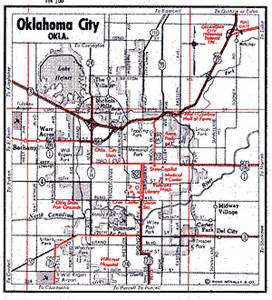Route 66 Oklahoma Map by Oklahoma Route 66 Maps