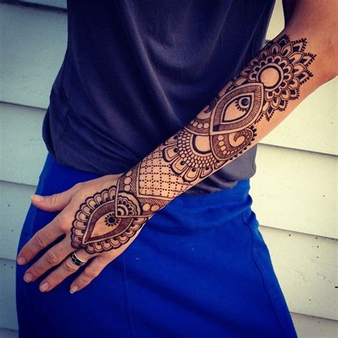 Henna Tattoo On Arm | 25 best ideas about henna tattoo arm on pinterest henna