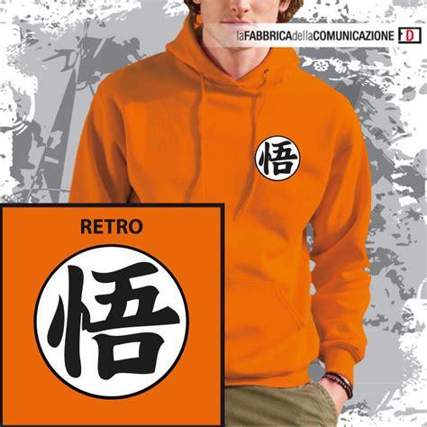 Sweater Hoodie Anime Goku Logo felpa cappuccio sweat hoodie goku kanji go