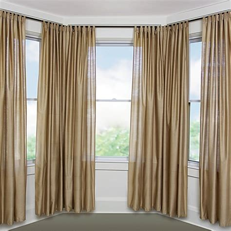 umbra bay window curtain rod umbra 174 solutions bayview black window set bed bath beyond