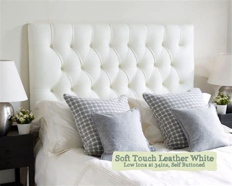 headboard white leather single iona headboard in soft touch leather white