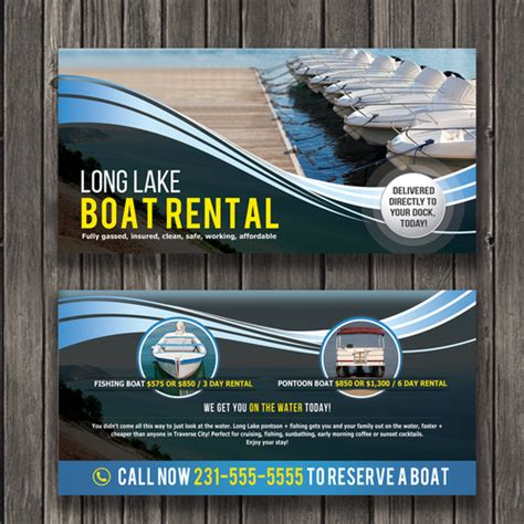 flyers boat rental boat rental flyer quick and easy 200 bucks postcard