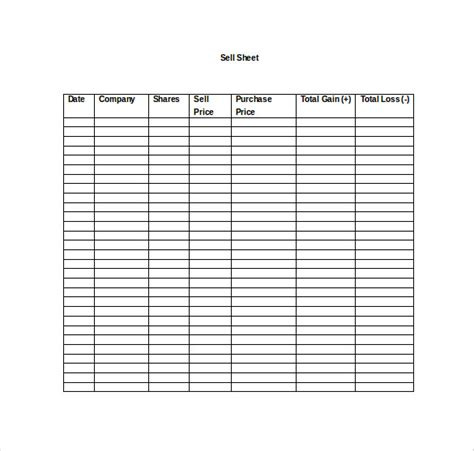 Sell Sheet Template by Sell Sheet Template 10 Free Word Pdf Documents