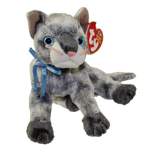 ty beanie baby frisco  gray cat   bbtoystore
