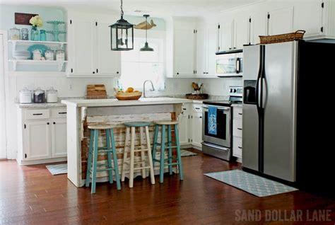 farmhouse kitchen remodel coastal style sand dollar lane