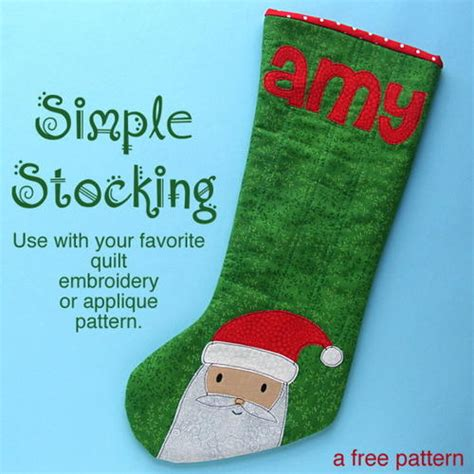 pattern for christmas stocking easy simple christmas stocking pattern allfreeholidaycrafts com