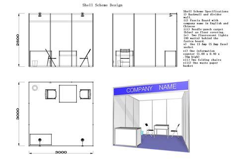 scheme design shell scheme booth malaysia variety standard shell