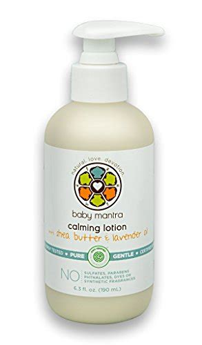 Nature Lotion Relaxing Lavender baby mantra calming lotion with shea butter and import it all