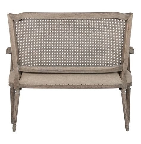 french country settee bench french country ethan caned back dining arm settee kathy