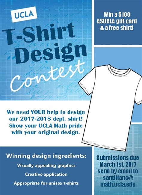 The Ucla Math T Shirt Design Contest Is Back Ucla Department Of Mathematics T Shirt Ad Template