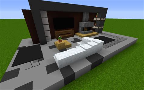 minecraft modern living room small modern living room creation 4603