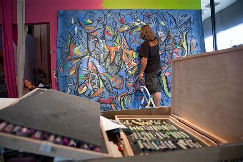 R D Painting by Backstage At Utah Arts Festival 2014 The Leonardo Venue S