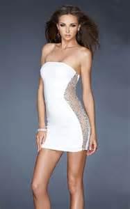 Tight short white dress