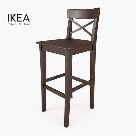 ikea wooden bar stool 3d model ikea ingolf bar stool