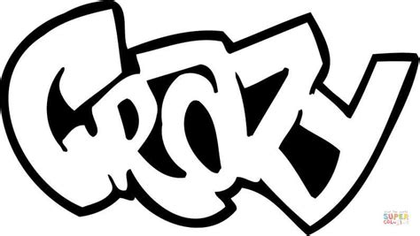 Crazy Graffiti Coloring Pages | 301 moved permanently