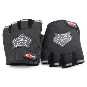 Sport Sarung Tangan Fitness sarung tangan fitness half finger mesh black