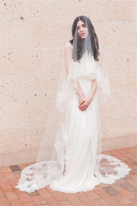 Layered Wedding Veil by Bridal Mantilla Veil Layer Veil Fingertip Veil Drop