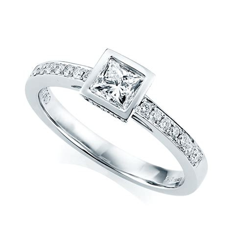 Platinum Princess Cut Diamond Engagement Ring From Berry's